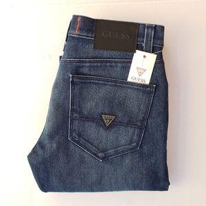 New Men's sz 30 GUESS Slim Straight Biker Jeans